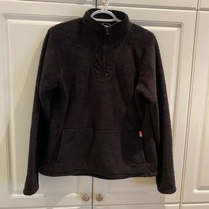 The North Face Ladies Half Zip Fleece Top Size L